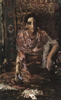 Картина Врубеля Гадалка