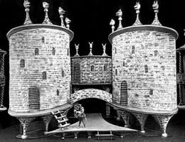 Макет декорации к спектаклю Ричард III В. Шекспира