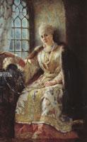 Боярыня у окна (К.Е. Маковский)