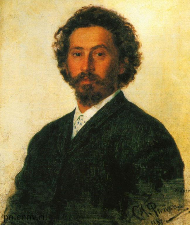 «Автопортрет» (1887) И. Репина.