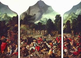 Триптих с танцами вокруг золотого тельца (Лука Лейденский)