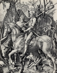 Всадник, смерть и черт (А. Дюрер, 1513 г.)