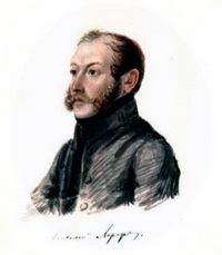 Портрет Н.И. Лорера (Н.А. Бестужев, 1832-1833 г.)