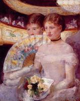 Две женщины в театральной ложе (М. Кассатт)