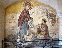 Мозаика на стене монастыря Саеднайской Божьей Матери
