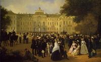 Приём лейб-гвардии в Константиновском дворце (картина XIX века)