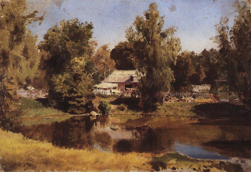 Верхний пруд в Абрамцево