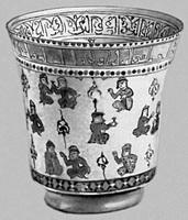 Кубок с росписью минаи (Иран)