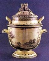 "Веджвуд.1773-1774 года. Мороженица из сервиза ""Зеленая лягушка"""