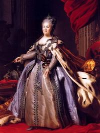 Парадный портрет Екатерины II (Ф.С. Рокотов)